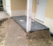 Notre dalle sous porche en cours de séchage.