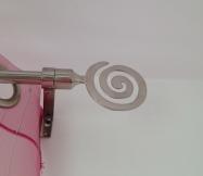 embout spirale barre de rideau