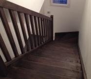Vue d'en haut de notre escalier.