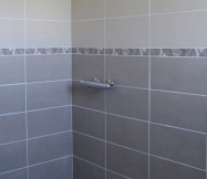 Le carrelage de notre salle de douche