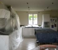 Ponçage du plafond de notre cuisine