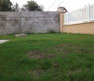 Notre terrain à l'avant de notre maison