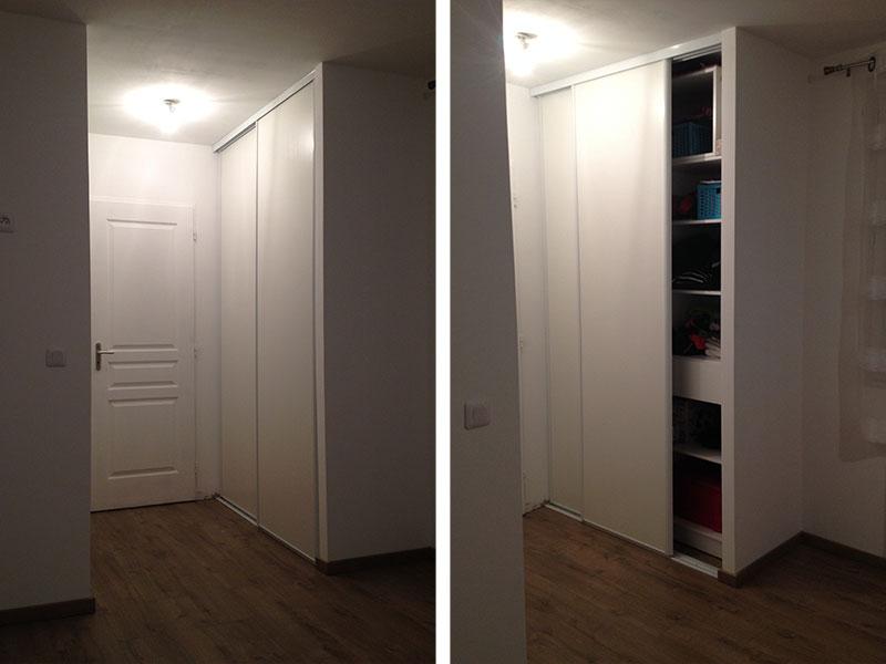 Travaux Intrieurs  Installation Des Portes Du Dressing  Ma Maison
