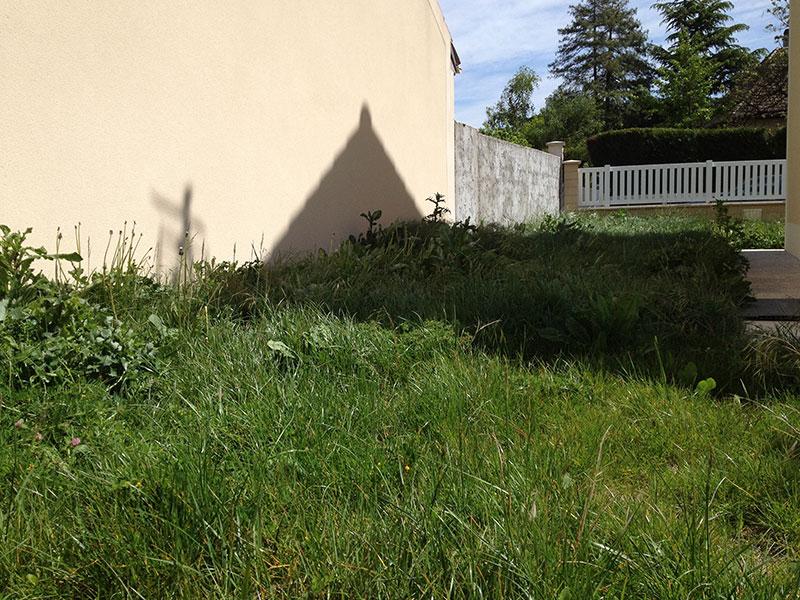 L'herbe et les mauvaises herbes sont très hautes, le travail va être long et difficile.