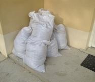 Fin de journée et les sacs pleins témoignent du tavrail réalisé.