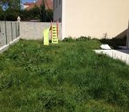 L'herbe est très haute dans notre jardin.