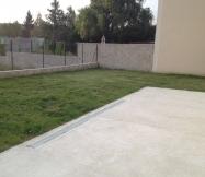 vue arrière de notre jardin