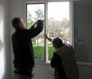 Remplacement en cours des vitrages de nos fenêtres.