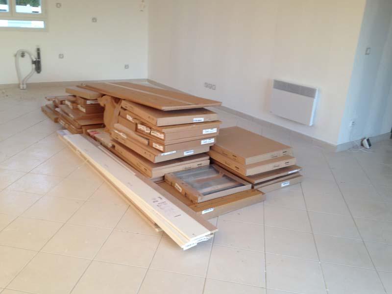 Travaux int rieurs r ception des colis de notre cuisine - Ikea livraison cuisine ...