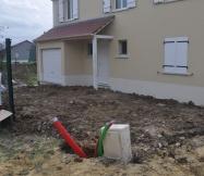 Terrassement de l'avant de notre Maison Phénix