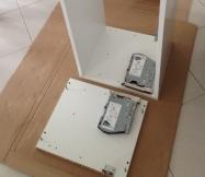 Montage des meubles hauts de notre cuisine.