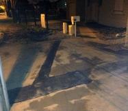 Notre canalisation d'eau est enterrée et la chaussée réparée.