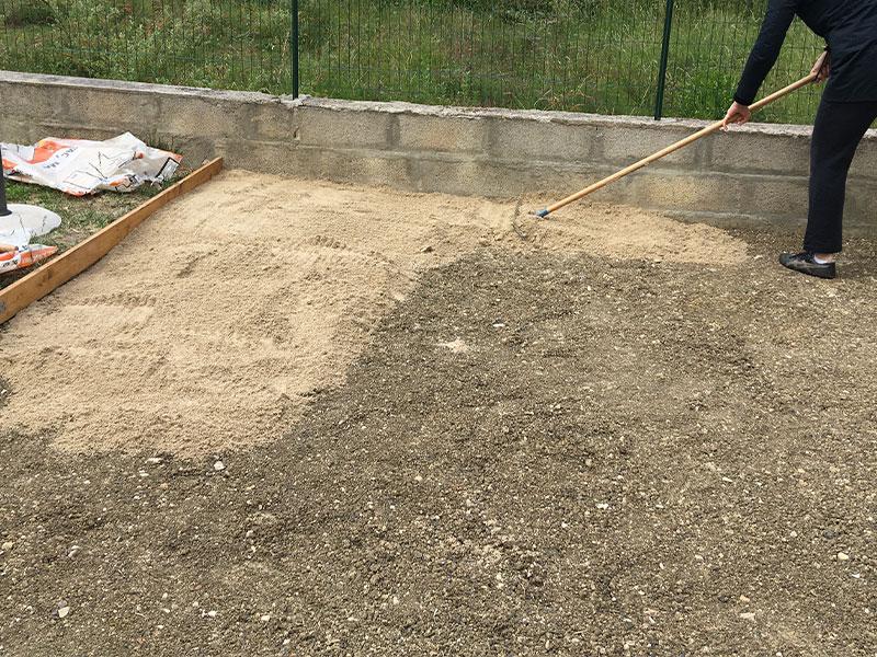 aplanir terrain pour piscine