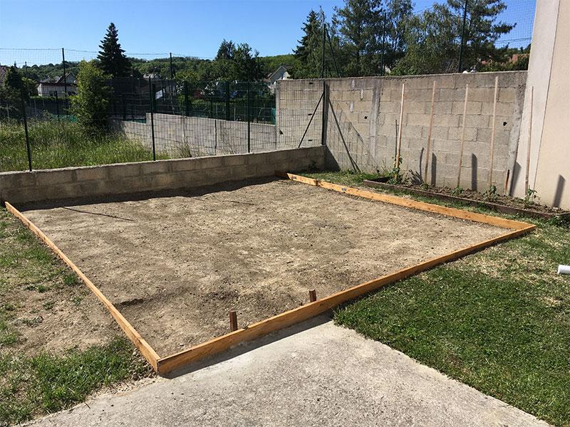 piscine hors sol terrain pas plat