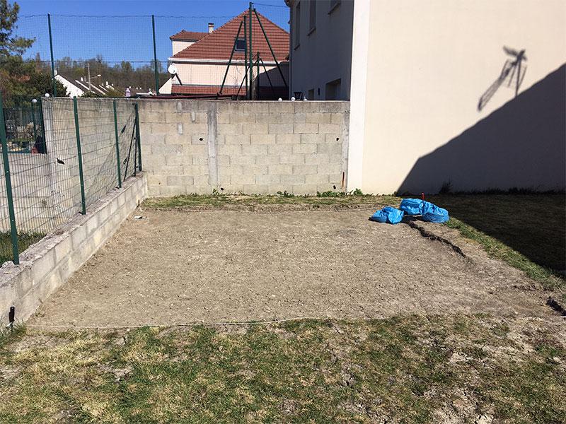 préparation terrain piscine hors terre
