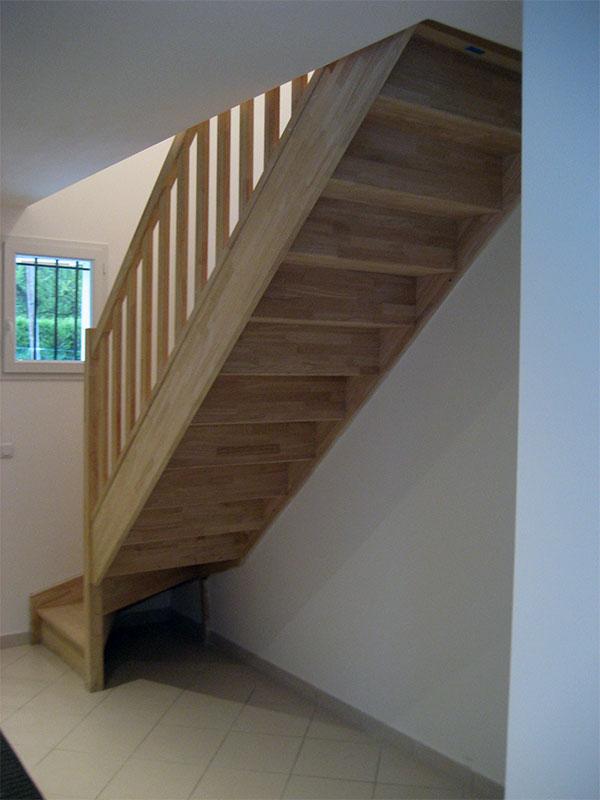 """Notre escalier est un modèle """"quart tournant""""."""