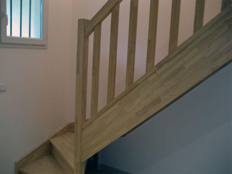 la rambarde de notre escalier en bois