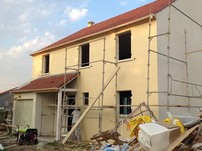 Crepi facade maison me demander pas ce que cuest comme - Recouvrir un crepi interieur ...