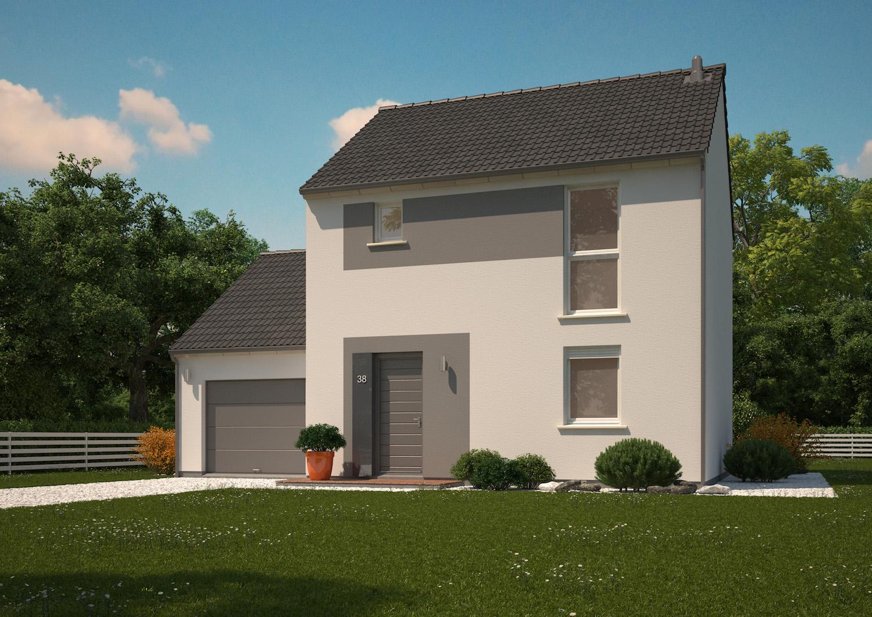 Plans maisons ph nix tage r 1 ma maison phenix - Plan de maison a etage avec garage ...