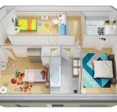 Plan Maison Phénix avec étage, combles, garage, 3 chambres (107m2)