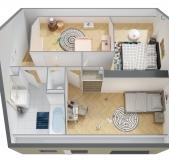 Plan Maison Phénix avec étage, combles, garage, 3 chambres (90m2)