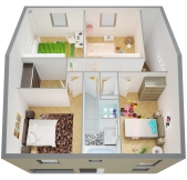 Plan Maison Phénix à étage avec garage, 3 chambres (101m2)