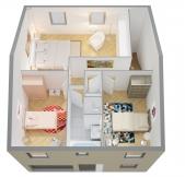 Plan Maison Phénix à étage avec garage, 3 chambres (92m2)