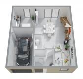 Plan Maison Phénix à étage, rez-de-chaussée, garage, 3 chambres (101m2)