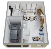 Plan Maison Phénix à étage, rez-de-chaussée, garage, 3 chambres (92m2)