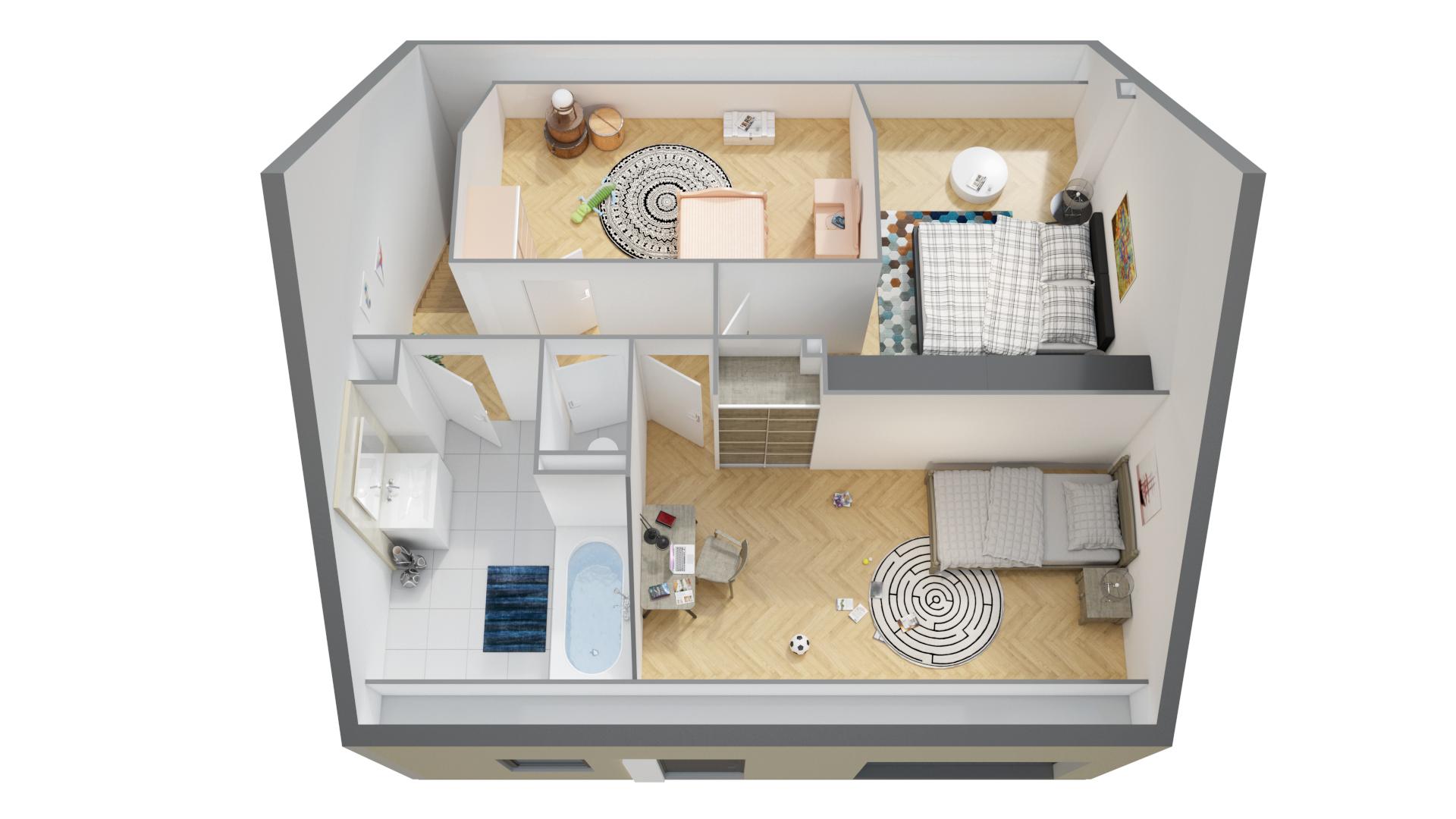 Plans maisons ph nix avec combles ma maison phenix - Plan etage 3 chambres ...