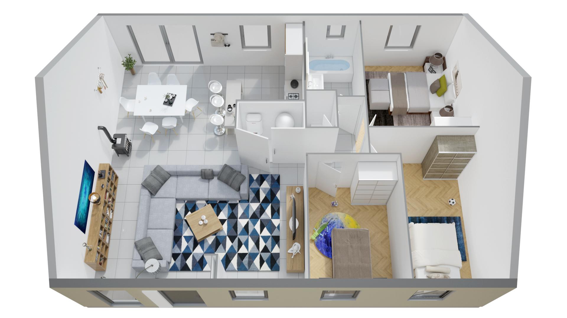 plan de maison plain pied 3 chambres phenix ventana blog. Black Bedroom Furniture Sets. Home Design Ideas