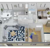 Plan Maison Phénix plain-pied avec 3 chambres (89m2)