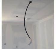 Passage des cables électiques  pour les spots de la cuisine.