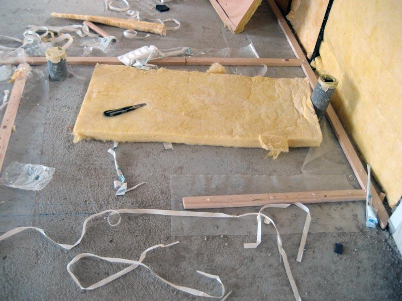 Tasseaux pour la délimitation des pieces de notre Maison Phénix