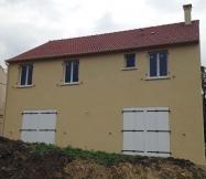 Crépi réalisé sur la  façade arrière de notre Maison Phénix
