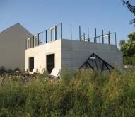 Élévation des murs du rez-de-chaussée de notre Maison Phénix