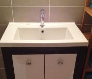 Le meuble vasque de notre salle d'eau