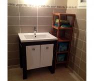 Les deux meubles de notre salle d'eau