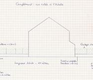 Travaux extérieurs : Vue de gauche de la maison.