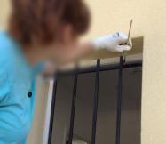 début des travaux de peinture sur nos grilles de défense
