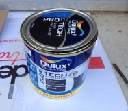 Le pot de peinture que nous avons utilisé pour nos travaux.