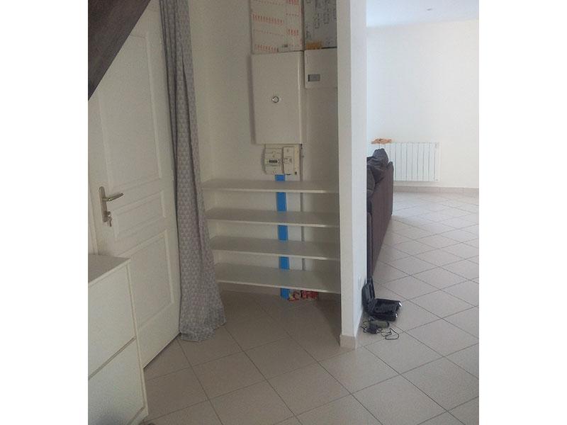 Travaux int rieurs cr ation d 39 un espace de rangement sur - Construire meuble a chaussure ...