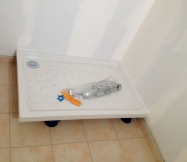 Bac de douche de notre salle de bain