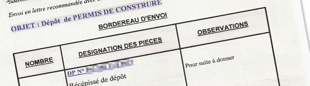 R c piss du d p t de permis de construire ma maison phenix for Depot permis construire
