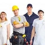 Les différents intervenants sur le chantier pour la construction de la maison