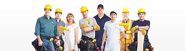 Ouvriers construction Maison Phénix