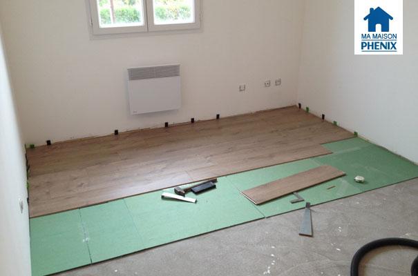 travaux int rieurs pose des sols de l tage ma maison phenix. Black Bedroom Furniture Sets. Home Design Ideas