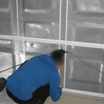 Maison Phénix isolation porte de garage