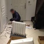 Travaux intérieur : la pose d'un nouveau radiateur dans l'entrée