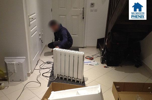 Maison Phénix installation de nouveaux radiateurs